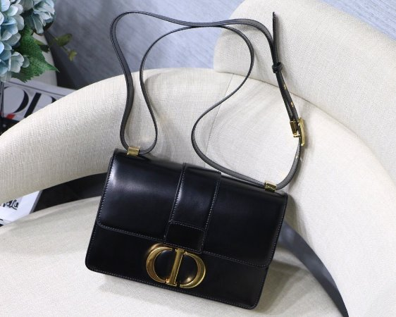"Bolsa Dior 30 Montaigne Vitelo Box ""Black"""