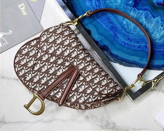 """Bolsa Dior Saddle Oblique Jacquard """"Brown"""""""