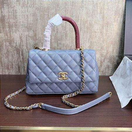"Bolsa Chanel Top Handle ""Baby Blue"""