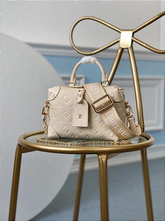 """Bolsa Louis Vuitton Petite Malle """"New Creme"""" (PRONTA ENTREGA)"""