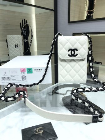 "Clutch Chanel Grainy Calf Leather ""Black&White"""