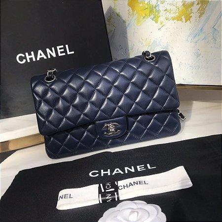 "Bolsa Chanel Double Flap ""Night Blue"""