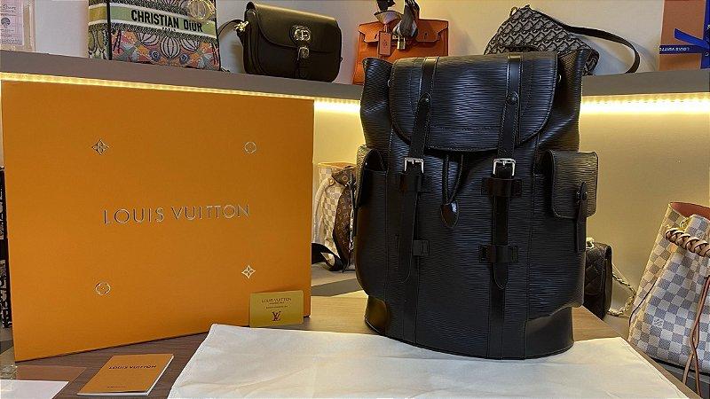 """Mochila Louis Vuitton Christopher """"Noir"""" (PRONTA ENTREGA)"""