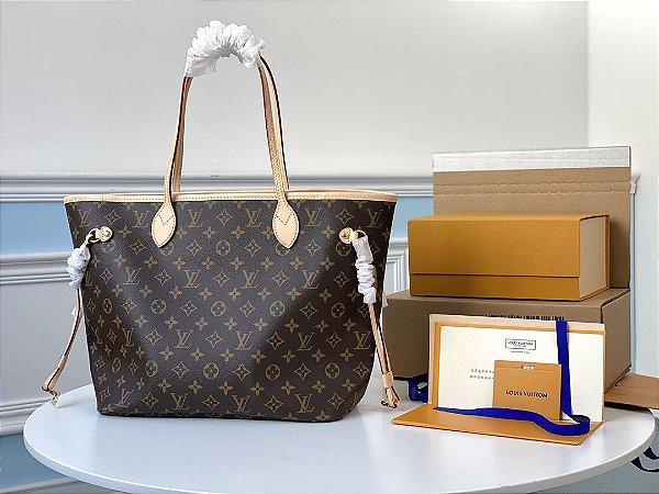 "Bolsa Louis Vuitton Neverfull Monogram ""Beige"""