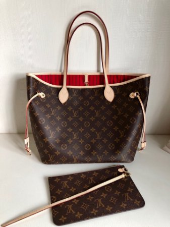 "Bolsa Louis Vuitton Neverfull Monogram ""Cherry"""