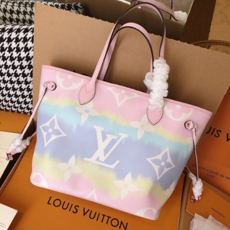 "Bolsa Louis Vuitton Neverfull Monogram Giant ""Rainbow"""