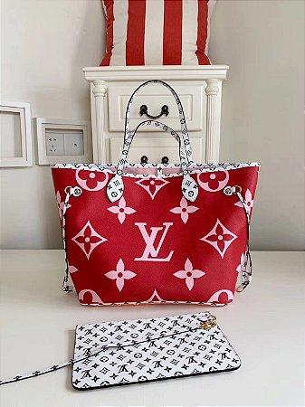 """Bolsa Louis Vuitton Neverfull Monogram Giant """"Red"""""""
