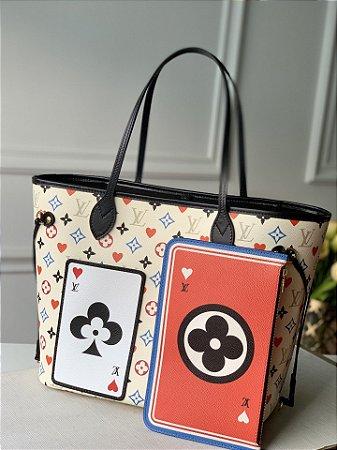 "Bolsa Louis Vuitton Neverfull Monogram Game On ""Blanc"""