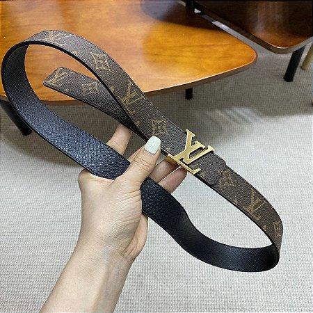 "Cinto Louis Vuitton Reversível ""Monogram"""