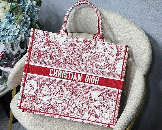 """Bolsa Tote Dior Book  """"Roses"""""""