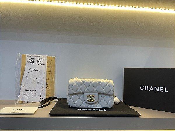 "Bolsa Chanel 16C Mini ""Beje/Dourado"" (PRONTA ENTREGA)"