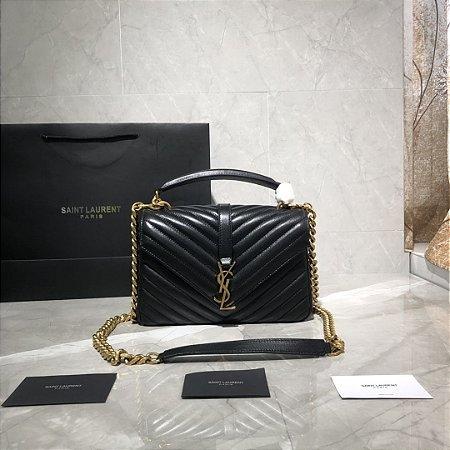 "Bolsa Saint Laurent Envelope ""Black""&Gold"""
