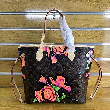 "Bolsa Louis Vuitton Neverfull Stephen Sprouse ""Roses"""