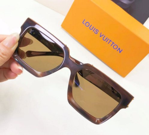"Óculos Louis Vuitton 1.1 Millionaires ""Brown"""