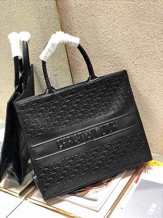 "Bolsa Tote Dior Book Vitelo  ""All Black"""