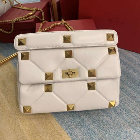 "Shoulder Bag Valentino Roman Stud ""Ivory"""