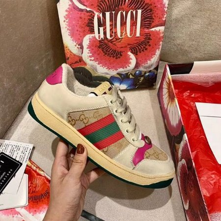 """Tênis Gucci Screener Butter Leather """"Pink"""""""