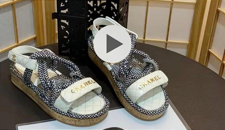 Sandália Chanel Trançada