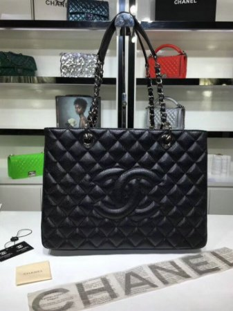 "Bolsa Chanel Shopper Tote ""Black"""