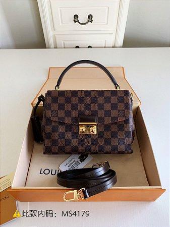 """Bolsa Louis Vuitton Croisette Damier Ébène """"Cherry"""""""