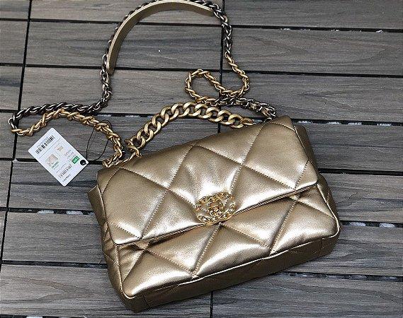 "Bolsa Chanel 19 ""Gold"""
