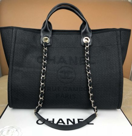 "Bolsa Chanel Deauville ""Black"""