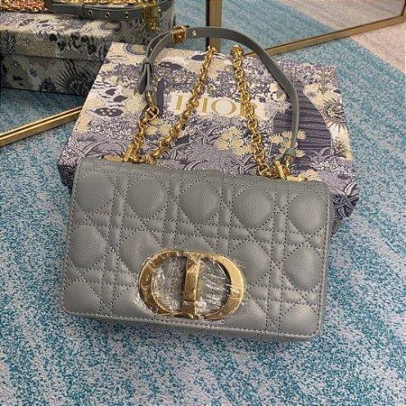 "Bolsa Dior 30 Montaigne Shiny Leather ""Grey"" (PRONTA ENTREGA)"