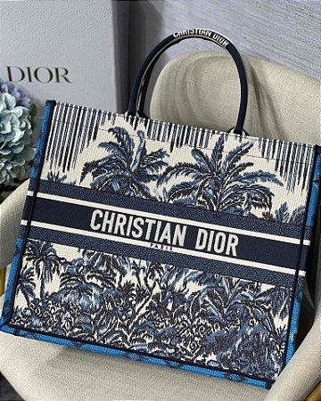 """Bolsa Dior Book Tote  """" Palms Blue"""" (PRONTA ENTREGA)"""