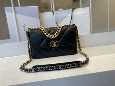 "Bolsa Chanel 19 Goat Leather ""Ruthenium"" (PRONTA ENTREGA)"