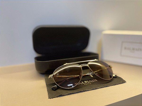 """Óculos Balmain """"Marrom/Dourado"""" (PRONTA ENTREGA)"""