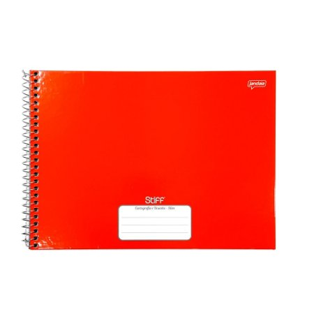 Caderno Espiral Cartografia e Desenho 80F Vermelho Slim Stiff Jandaia