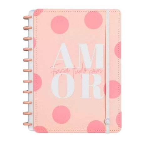 Caderno Inteligente By Uatt? Grande - Faça tudo por Amor 80F