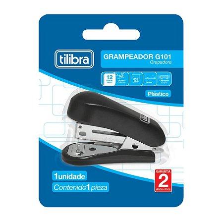 Grampeador 12 Folhas Mini Com Extrator G101 Preto Tilibra