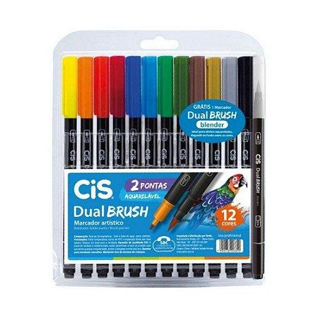 Dual Brush Cis Aquarelável 12 cores