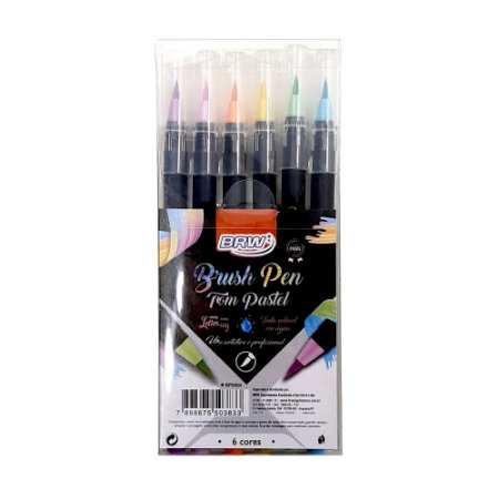 Brush Pen Pastel BRW 6 cores