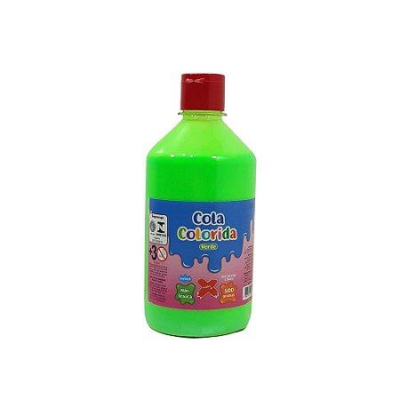Cola Colorida Verde Make+ 500g Uso escolar e Slime