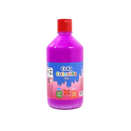 Cola Colorida Roxo Make+ 500g Uso escolar e Slime