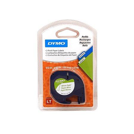 Blister Refil para Rotuladora c/2 Cartuchos de Etiquetas Letratag Dymo