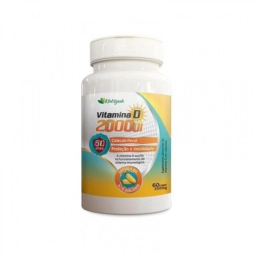 Vitamina D 2000UI 250mg 60 cápsulas - Katigua