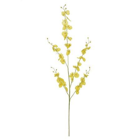 Orquídea Chuva de Ouro (Dançante) (Haste com 5 Galhos) 98cm - Amarelo