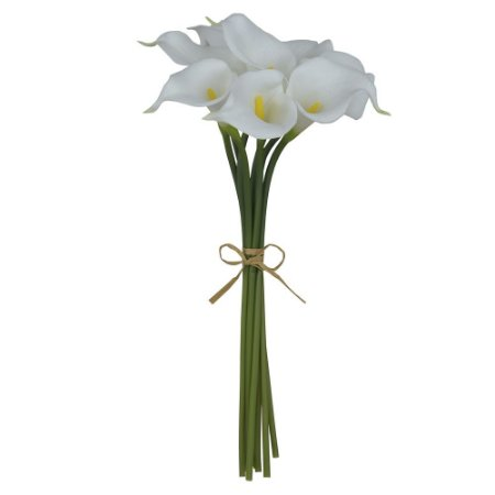 Buquê Copo de Leite (8 Hastes) 34cm - Branco