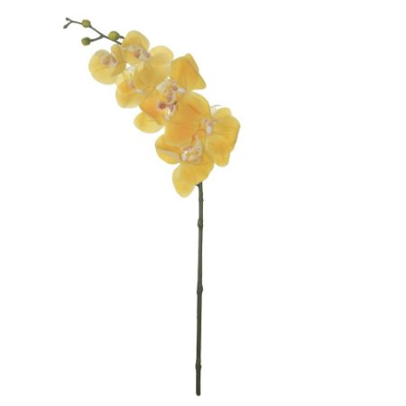 Orquídea Phalaenopsis Real Toque (Haste com 7 Flores) 63cm - Amarelo