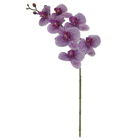 Orquídea Phalaenopsis Real Toque (Haste com 7 Flores) 63 cm - Branco Beauty