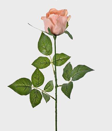 Haste Botão de Rosa Real Toque 75cm - Salmão