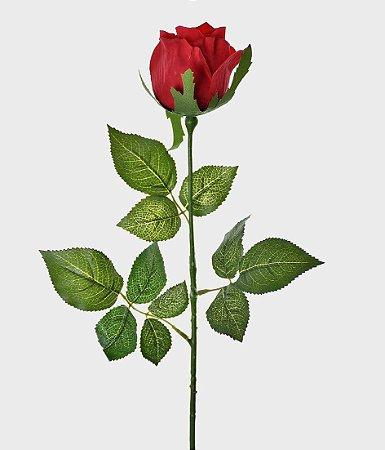 Haste Botão de Rosa Real Toque 75cm - Vermelho