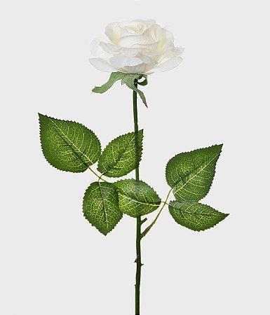 Haste Rosa Real Toque 44cm - Branco