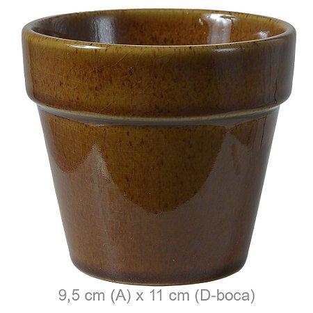 Vaso Cerâmica 9,5cm - Ocre