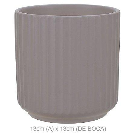 Vaso Cerâmica 13cm - Fendi Fosco
