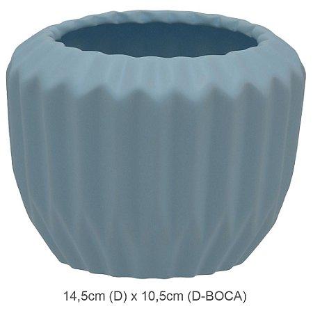 Vaso Cerâmica 12cm - Azul Claro
