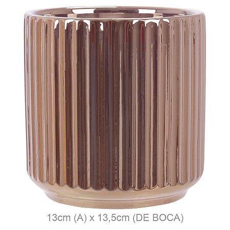Vaso Cerâmica 13cm - Rosê